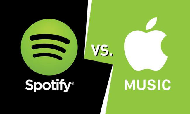 Spotify contro Apple Music per il controllo dello streaming musicale