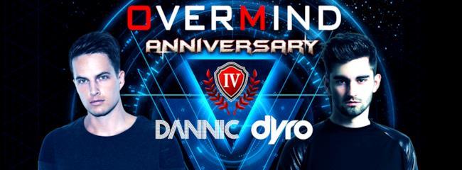 I DJ Dannic e Dyro saranno i protagonisti del party organizzato da Overmind ai Magazzini Generali