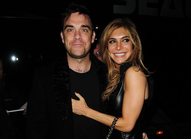 Robbie Williams con la moglie Ayda Field