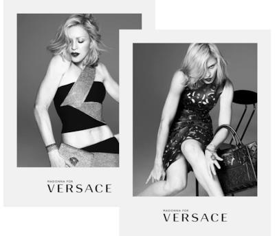 Le prime immagini di Madonna per la nuova pubblicità Versace
