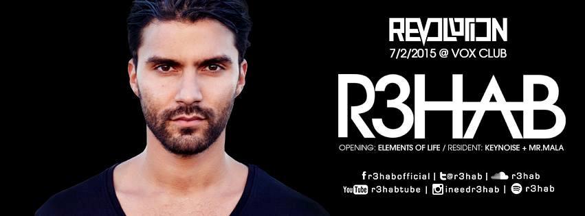 Il disc jockey olandese R3hab suonerà Revolution