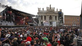 Piazza San Giovanni a Roma location del Concerto del Primo Maggio 2014