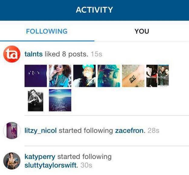 Katy Perry segue su Instagram l'account
