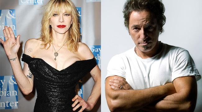 Courtney Love e Bruce Sprigsteen