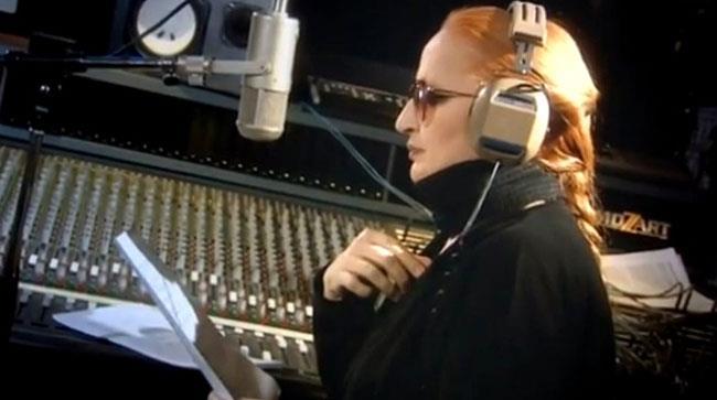 Mina in studio di registrazione