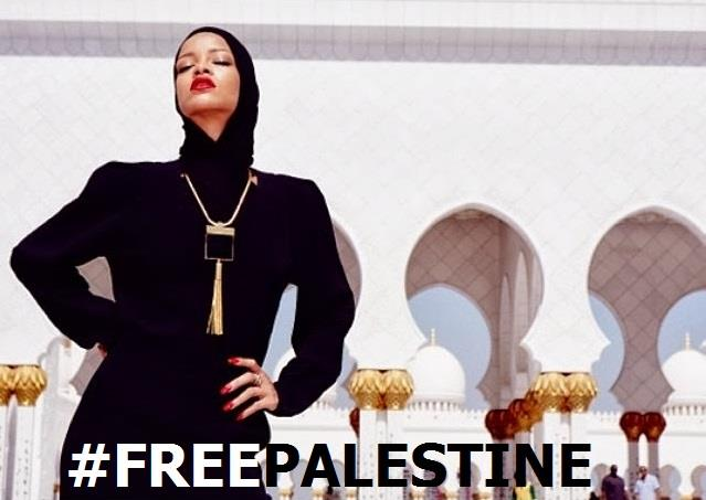Rihanna con il velo ad Abu Dhabi