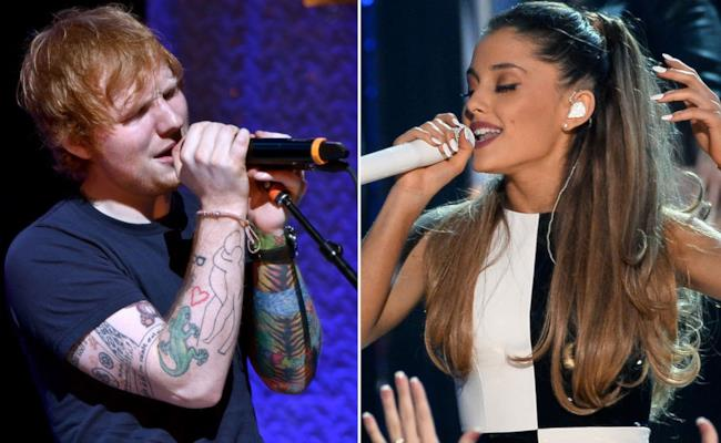 Ed Sheeran e Ariana Grande