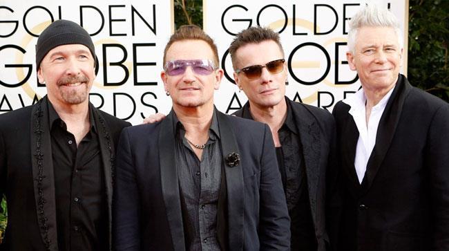 Bono Vox e gli altri componenti degli U2