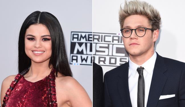 Selena Gomez e Niall Horan agli AMA 2015