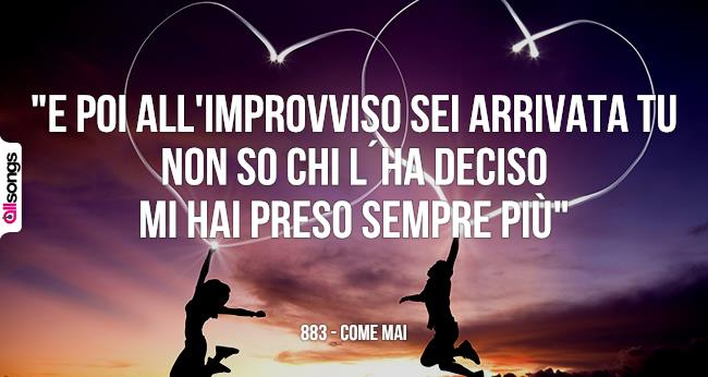 belle frasi canzoni 883