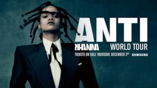 Rihanna sulla locandina dell'ANTI World Tour 2016