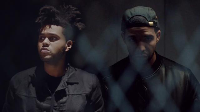 The Weeknd a sinistra e Drake a destra