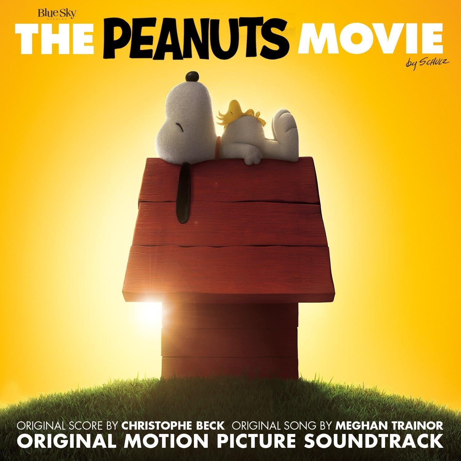 La copertina ufficiale della soundtrack di The Peanuts Movie by Christophe Beck