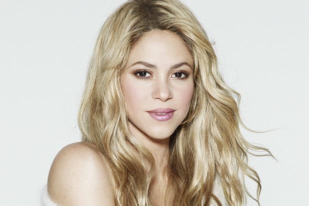 Primo piano della bionda popstar Shakira