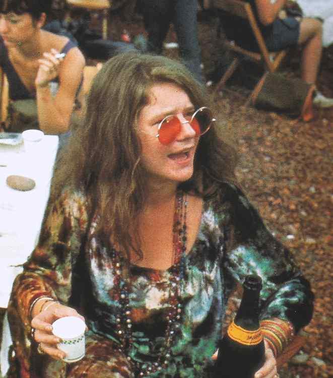 Janis Joplin al concerto di Woodstock del 1969