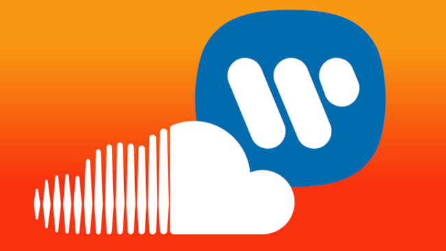 Loghi di SoundCloud e Warner Music Group