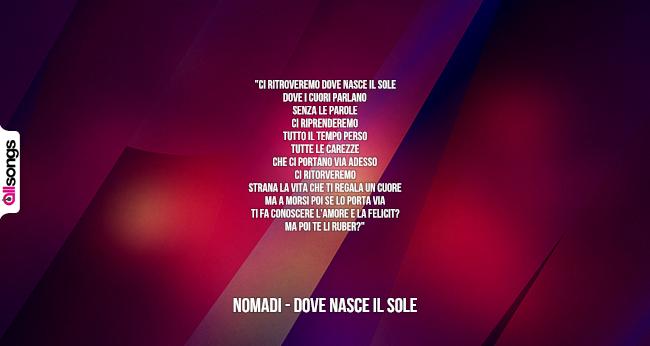 Testi e canzoni dei nomadi