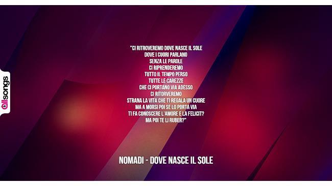 Eccezionale Nomadi: le migliori frasi dei testi delle canzoni | AllSongs SN54