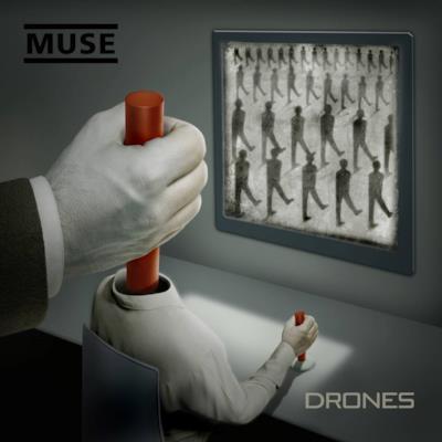 La copertina di Drones dei Muse