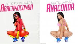 Copertine di album famosi in cui le popstar diventano supereroi