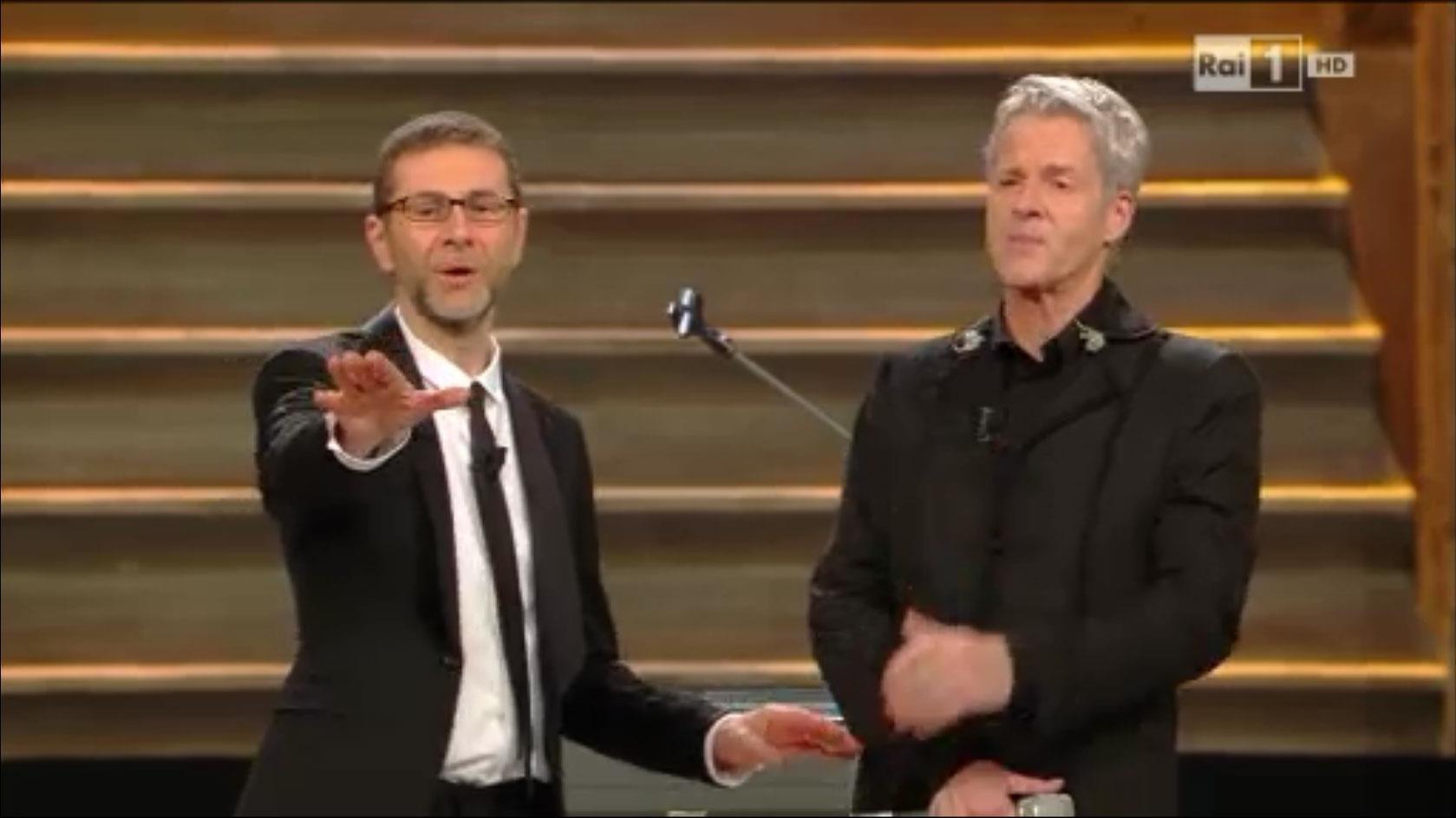 Fabio Fazio e Claudio Baglioni a Sanremo 2014
