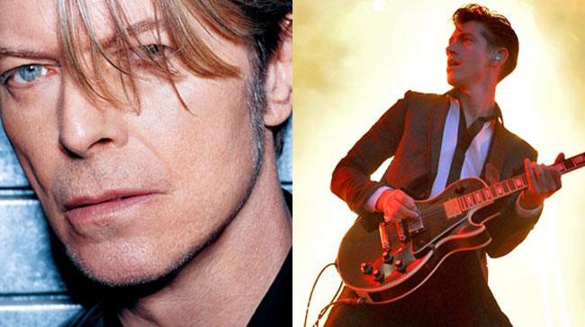Primo piano di David Bowie e Artic Monkeys