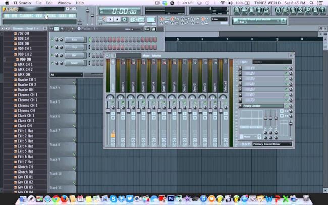L'interfaccia del software FL Studio