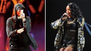 Eminem  e Rihanna sul palco del Lollapalooza 2014