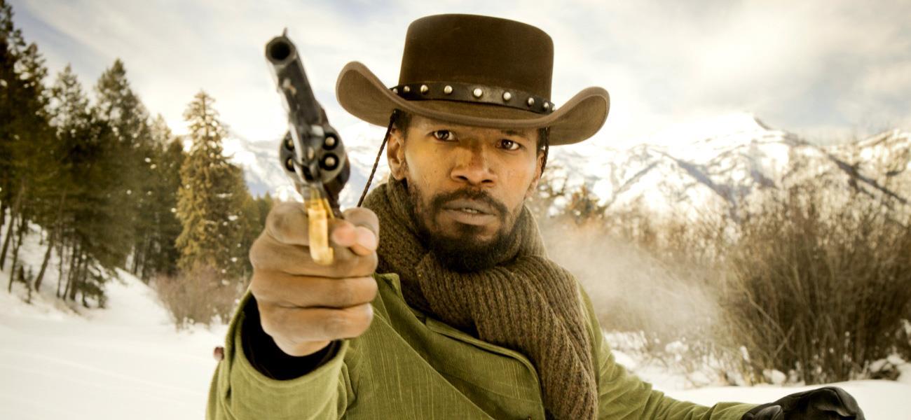 L'attore Jamie Foxx in Django Unchained