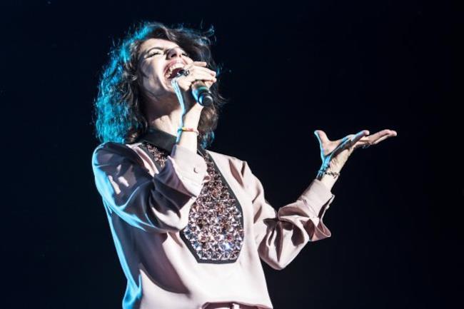 Giorgia durante il Senza Paura Tour 2014