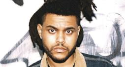 Primo piano di The Weeknd, nome d'arte di Abel Tesfaye