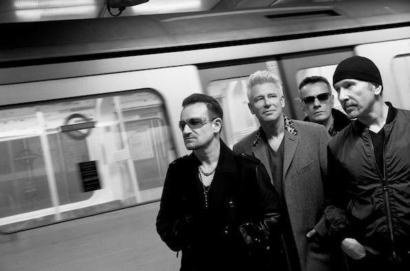 Gli U2 in metropolitana