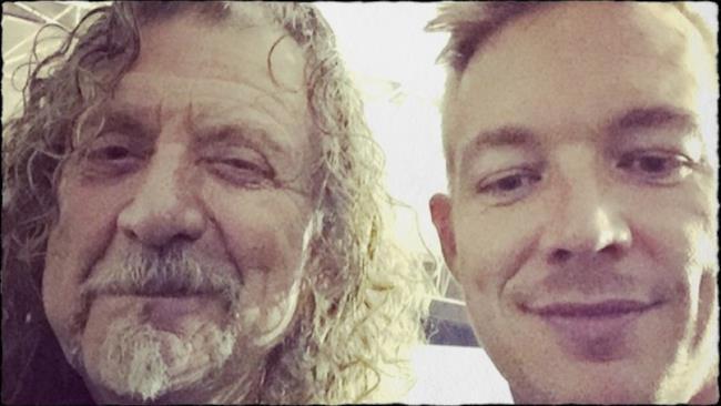 Una collaborazione nuovo attende Diplo e Robert Plant, il leader della rock band Led Zeppelin