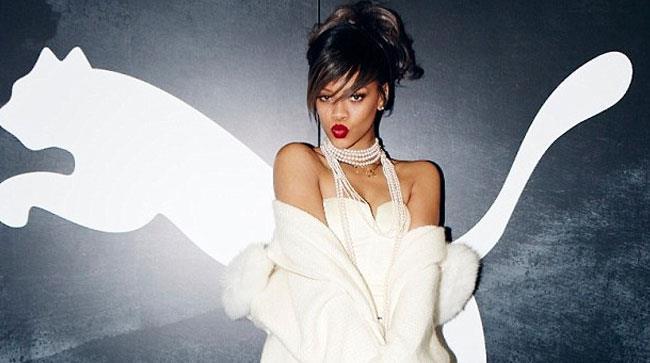 Rihanna e il logo di Puma