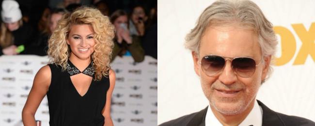Andrea Bocelli e Tori Kelly.