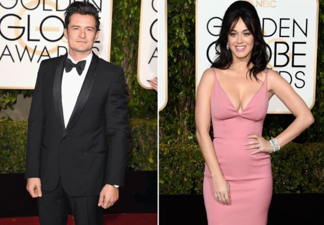 Katy Perry e Orlando Bloom ai Golden Globe di gennaio 2016