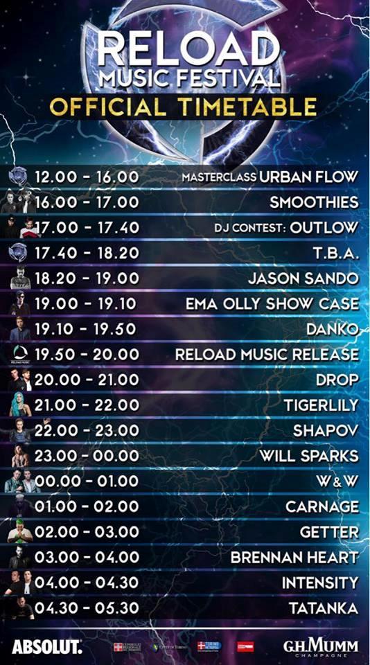 Line up festival