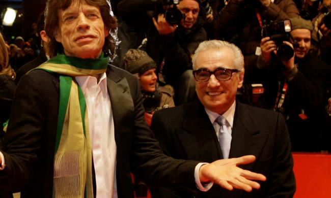 Mick Jagger e Martin Scorsese.