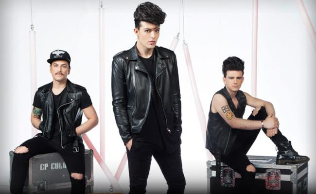 I 3 componenti della band italiana The Kolors