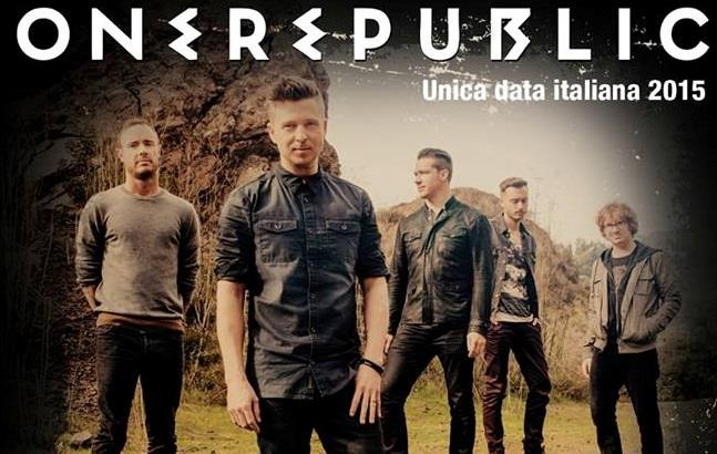 OneRepublic unica data italiana 2015
