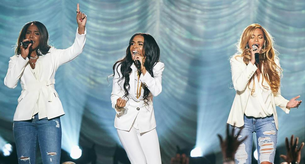 Le Destiny's Child insieme agli Stellar Gospel Music Awards 2015
