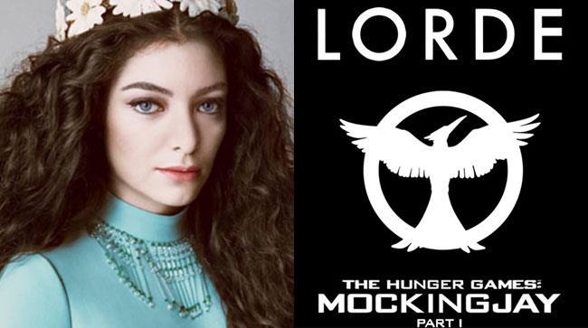 Primo piano di Lorde e copertina della soundtrack