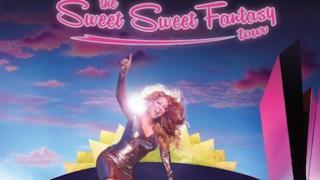 Mariah Carey sul poster di The Sweet Sweet Fantasy Tour