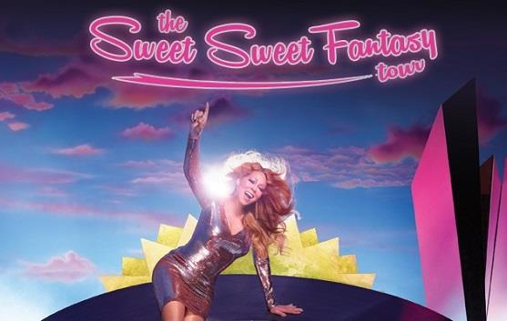Mariah Carey sul poster di The Sweet Sweet Fantasy Tour