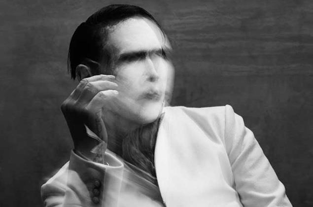 Marilyn Manson in bianco e nero