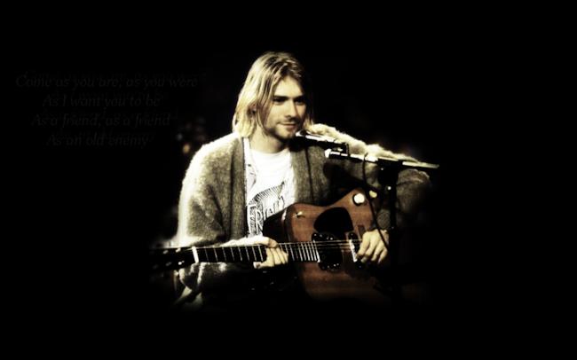 Il cantante dei Nirvana Kurt Cobain