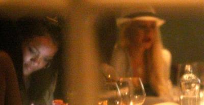 Christina Aguilera a cena con Rihanna