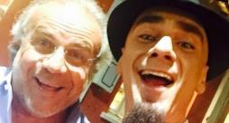 J-Ax con Jerry Calà nei camerini della Rai