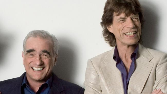 Martin Scorsese e Mick Jagger fotografati insieme