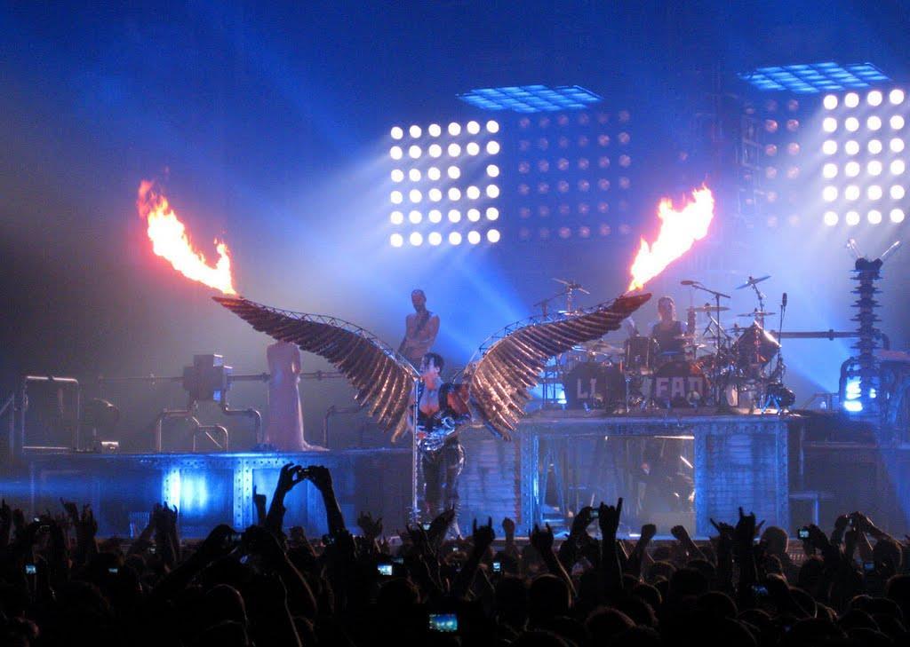 Rammstein durante il concerto al Madison Square Garden